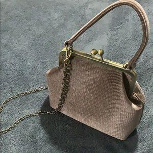 Anthropologie corded velvet purse like New!